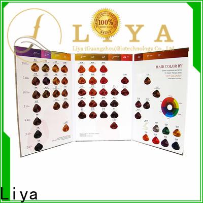 Liya dye hair color chart supplier for hair shop