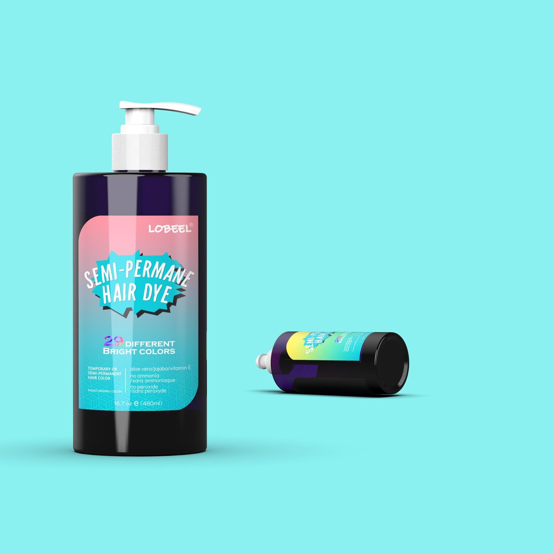 Best Organic Semi-Permanent Hair dye Nutrition Bright Hair Color Supplier