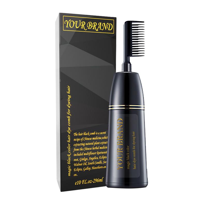 Professional Salon Permanent Hair Color Cream Harmless The Black Magic Combs Hair Color Hair Dye