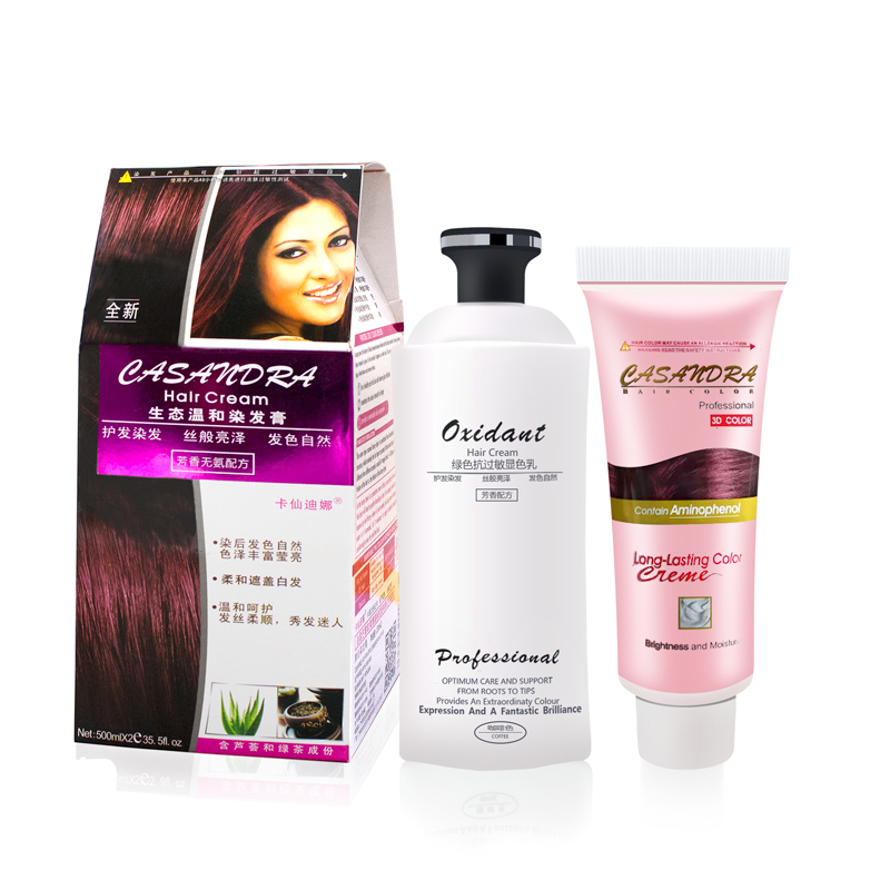 Hair Care Product Hair Dye Colors Professional Hair Dye Cream