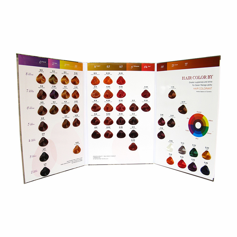 Fashion Color Catalogue Hair Color Chart for Hair Color Cream Hair Dye