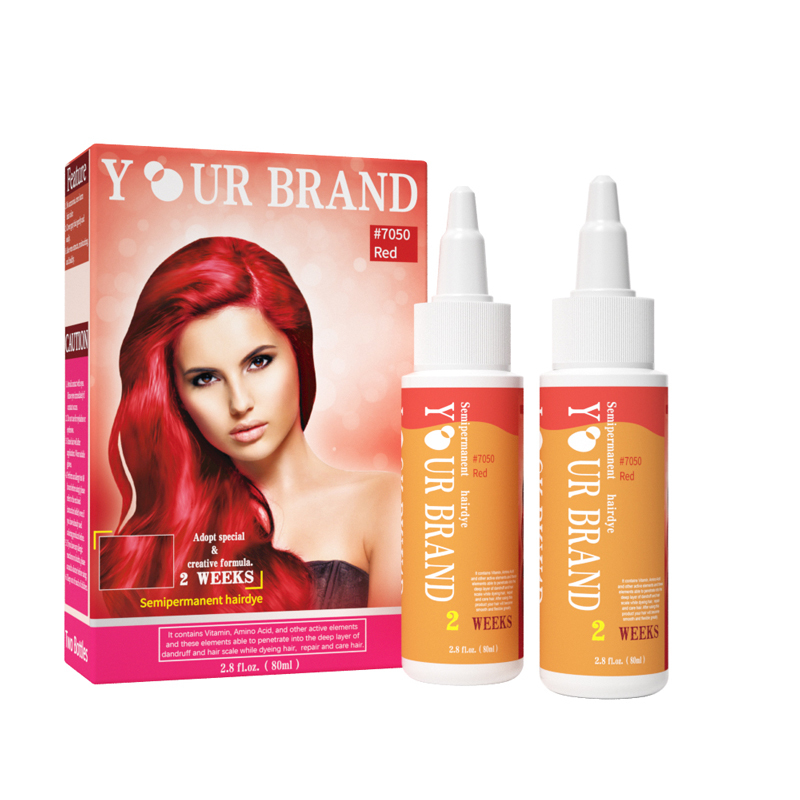 Professional Semi-permanent Hair Colour Long Lasting Non Allergic Natural Organic Hair Dye with Bright Color
