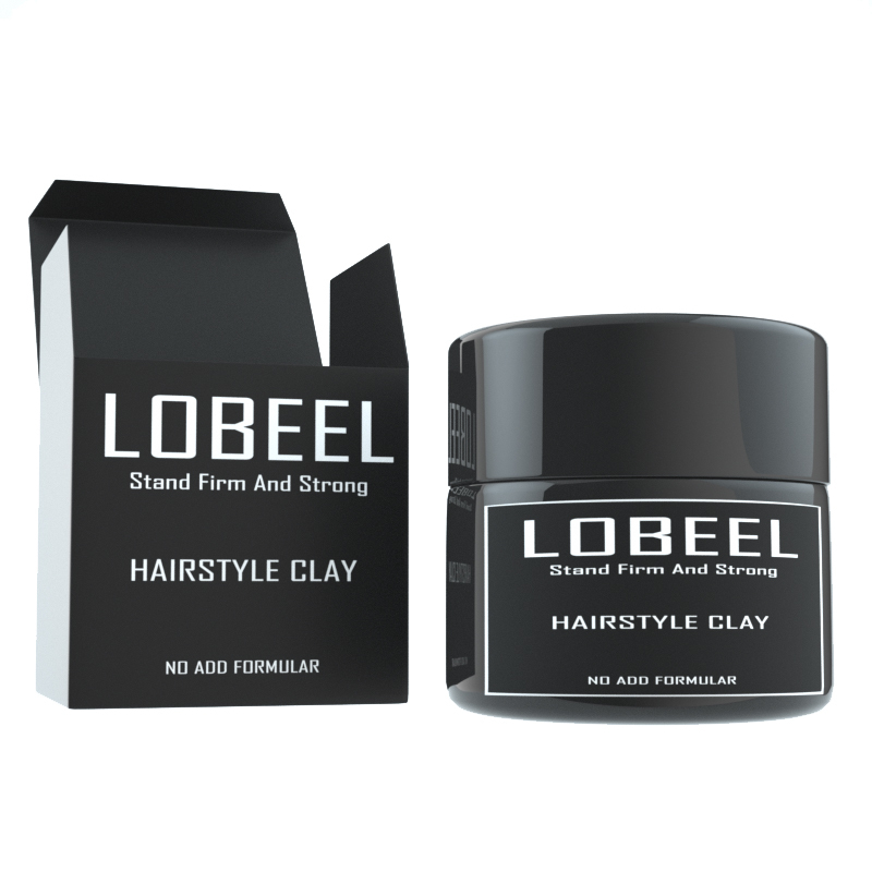 Super Salon Strong Professional Matte Hair Mud Silvery Clay Wax Hair Clay