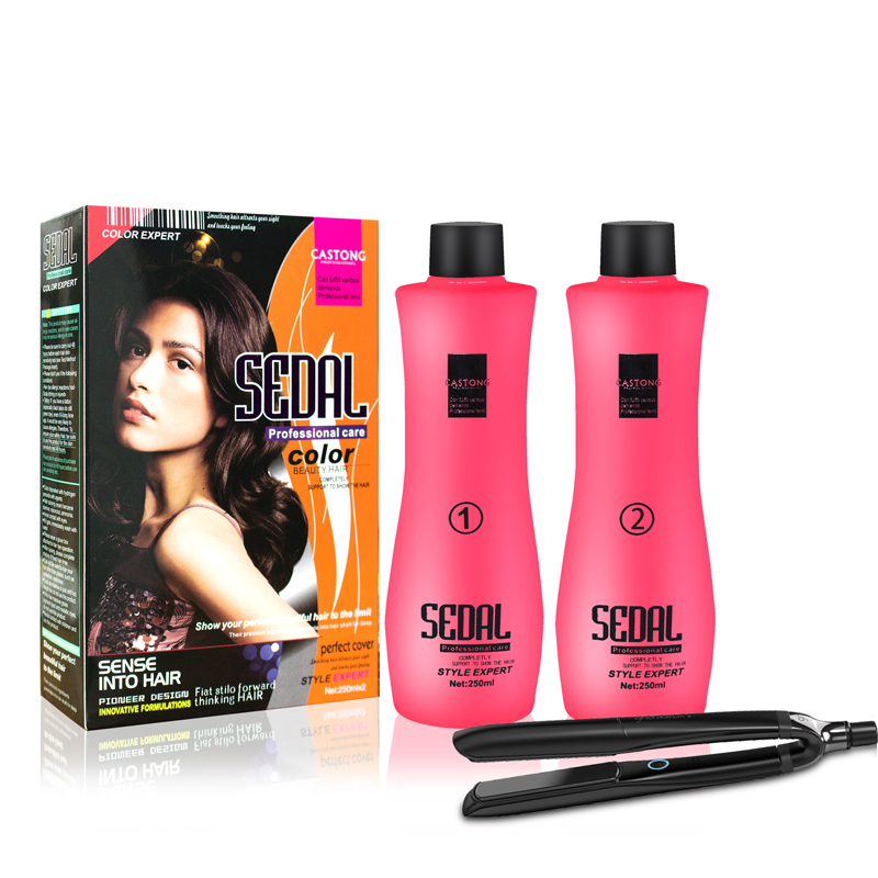 Color Best 2 in 1 Professional Permanent collagen Hair Straightening Cream