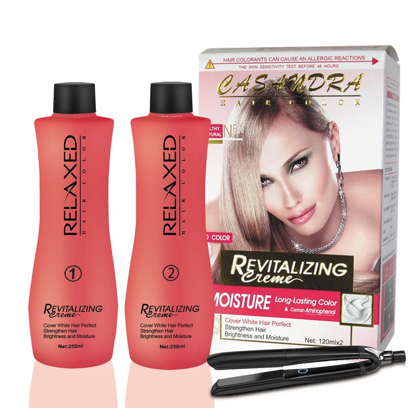 2 in 1 Professional Permanent collagen Hair Straightening Cream