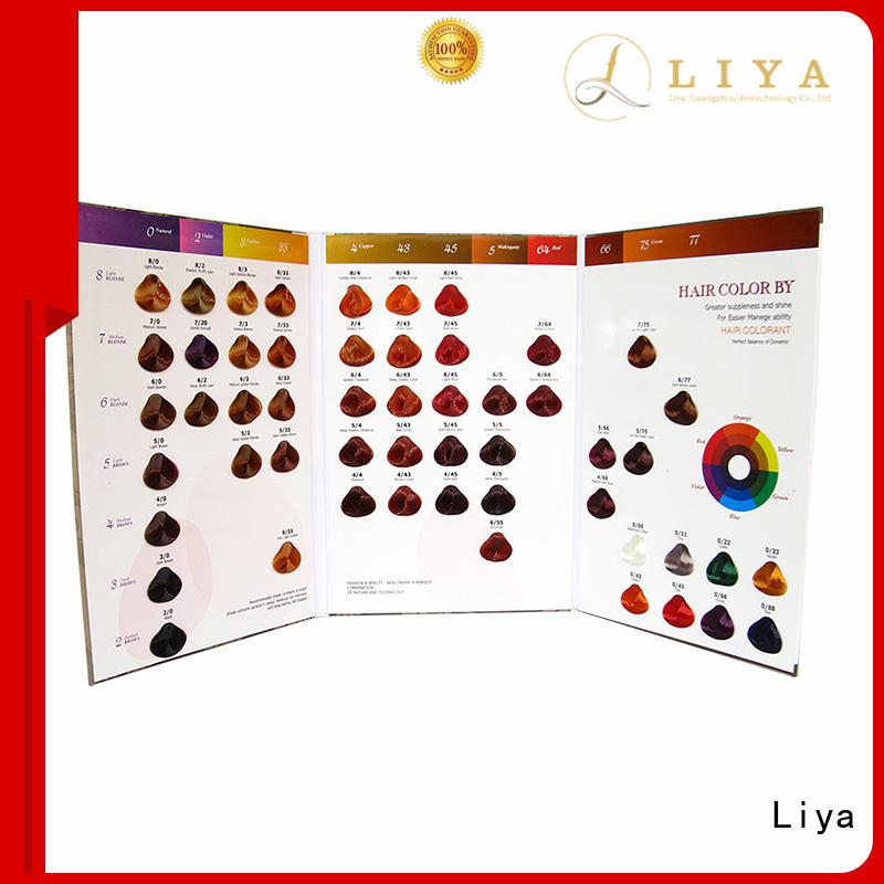 Liya hair color charts wholesale for hair shop