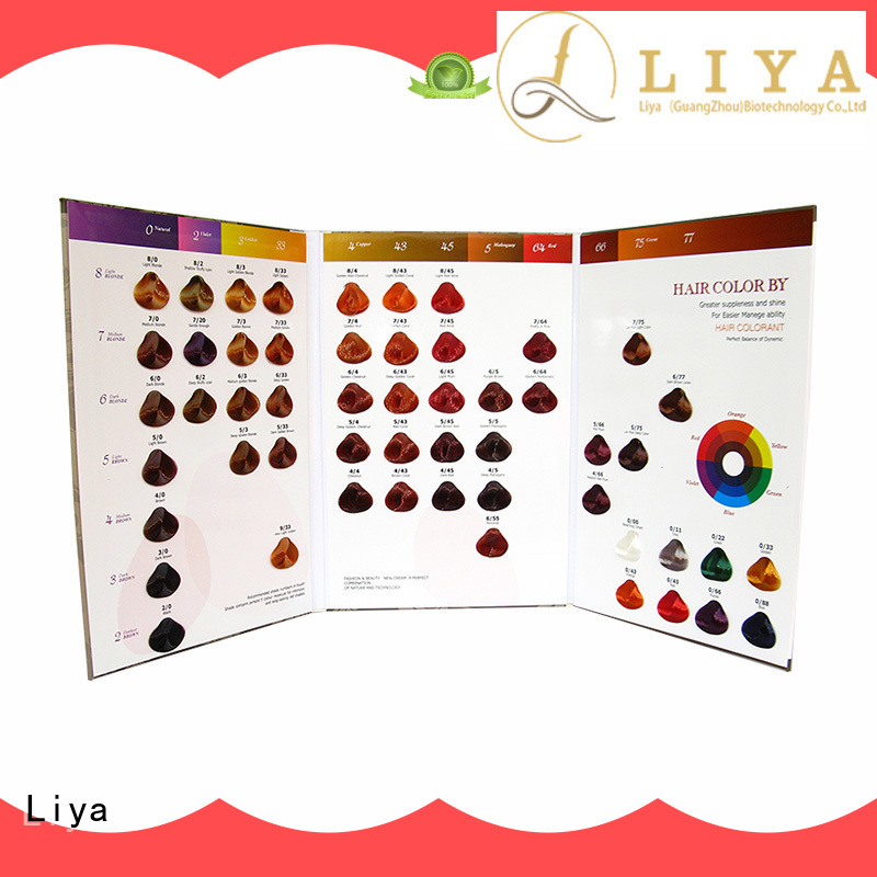 Liya economical hair color charts very useful for hair salon