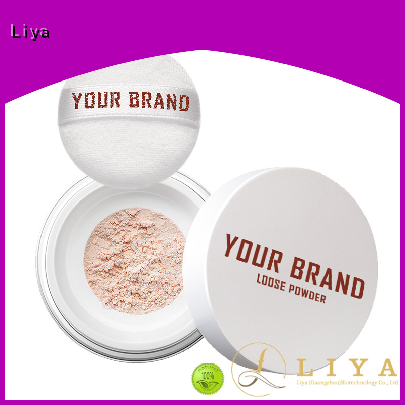 Liya Best loose face powder factory for oil control of face