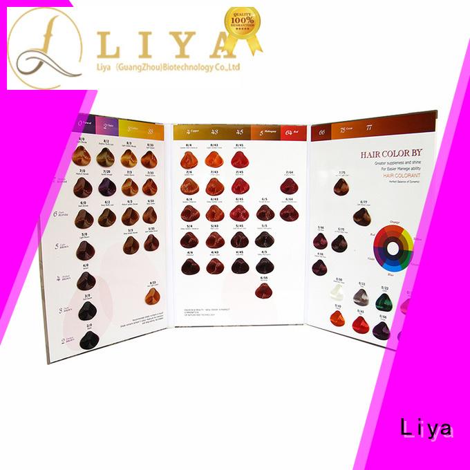 Liya hair color charts manufacturer for hair shop