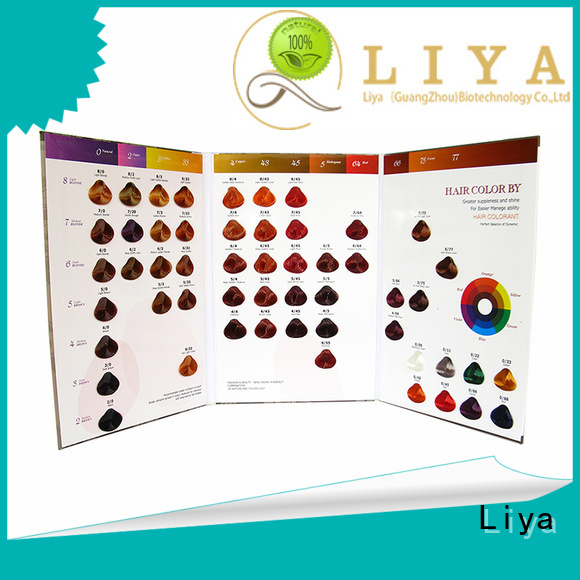Liya hair dye colors chart widely applied for hair salon