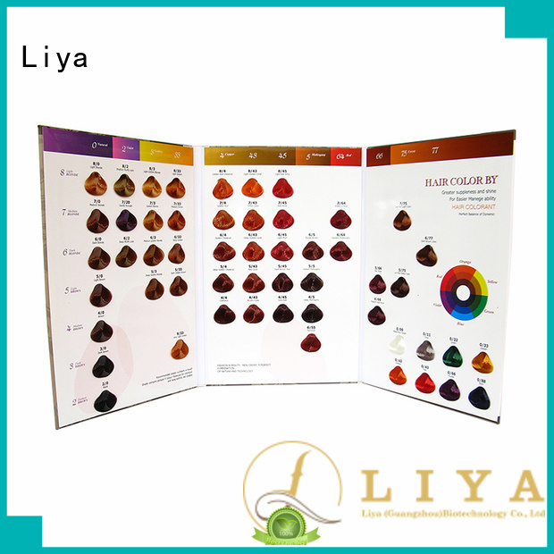 Liya useful dye hair color chart factory for hair shop