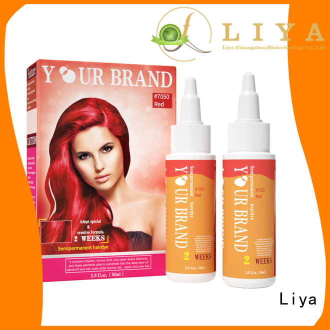 Liya professional hair dye widely employed for hair shop