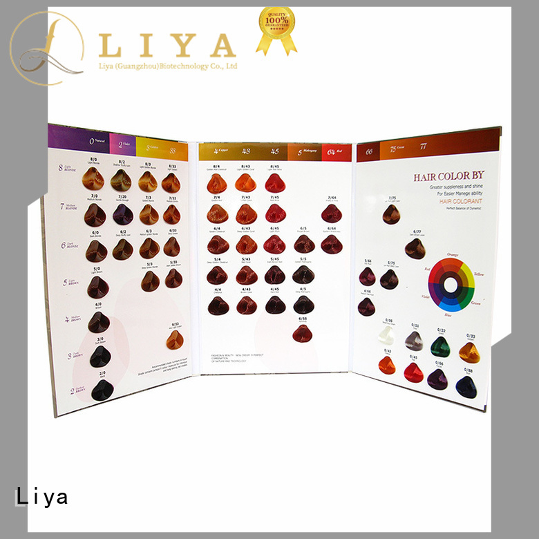 Liya economical hair dye colors chart needed for hairdressing